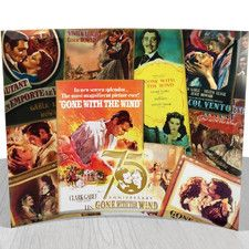 Gone with The Wind 75th Anniversary (Poster Collage) StarFire Vintage Advertisement Plaque