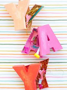 Take the gift box to a whole new level with these DIY letter-shaped boxes.