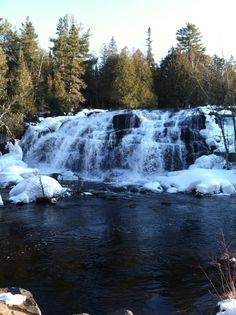 Waterfall on Ontonagon River, Michigan