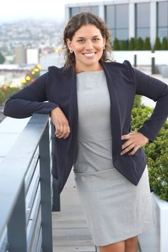 woman wearing business formal and blazer for work on Skirt The Ceiling