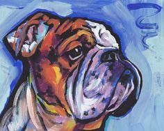 Hey, I found this really awesome Etsy listing at https://www.etsy.com/listing/111026626/bulldog-dog-portrait-art-print-of-pop