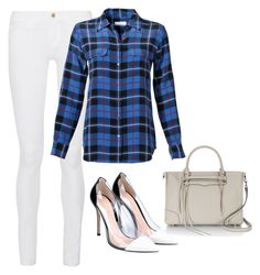 """""""Make it Simple"""" by ella178 ❤ liked on Polyvore featuring Frame Denim, Equipment, Gianvito Rossi and Rebecca Minkoff"""