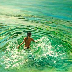 """love the water, Saatchi Online Artist Antoine Renault; Painting, """"Rayon vert - the water. Kunst Online, Photo D Art, Fine Art, Oeuvre D'art, Amazing Art, Saatchi Art, Cool Art, Art Photography, Illustration Art"""