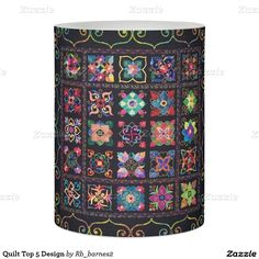 Quilt Top 5 Design Flameless Candle