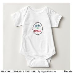 PERSONALIZED BABY'S FIRST CHRISTMAS bodysuit. DAILY DEALS! #personalizedbabysfirstchristmas #personalizedbabysfirstchristmasonesie #babysfirstchristmasonesie #babysfirstchristmasbodysuit #babysfirstchristmasonepiece #babysfirstchristmasgifts #personalizedonesie #personalizedbabygifts #personalized #giftforbaby
