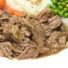 Crock pot beef roast.  I put a frozen roast in the crock at 7 am. Pour a jar of banana peppers over the meat, set it on high. Home from work at 5 pm. & the meat falls apart...