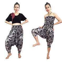 2 in 1 Harem Pants and Dress Women's Hippie Bohemian Yoga Pants Unique Comfy One Size Black Bohemian Pants, Hippie Pants, Hippie Bohemian, Flowy Pants, Comfy Pants, Harem Pants, Fashion Beauty, Girl Fashion, Elephant Pants