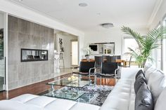 Clean lines in this #contemporary #living room