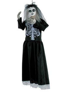Gruselige Skelett-Puppe Witwe Halloween-Hängedeko bunt 91cm. Aus der Kategorie Halloween Partydeko/Halloween Dekofiguren. Sorgen Sie mit dieser gruseligen Skelett-Puppe für wohlige Gruselatmosphäre auf Ihrer Halloween-Party. Die Halloween-Hängedeko ist mit Sicherheit der Hingucker auf dem Gruselfest!