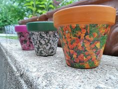 Seed Packet Decoupage Clay Pots - Crafts by Amanda