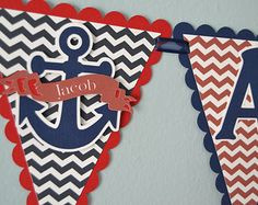 Nautical Baby Shower Banner Sailor Theme by MemoriesBlossom Baby Shower Prizes, Baby Shower Signs, Baby Shower Balloons, Baby Shower Cards, Baby Shower Fun, Baby Shower Themes, Shower Ideas, Baby Shower Cupcakes For Girls, Baby Shower Decorations For Boys