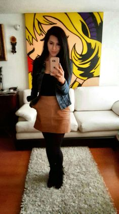 outfit leather skirt