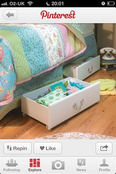 Dresser draws as under bed storage