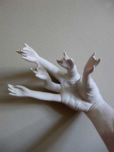 """Jane Wynn- Hands , """"An oldie but a goodie! I was painting plastic doll hands and thought they would dry best- on my fingers... little did I know they would make for such a great photo! So with one hand, I snapped this photo."""""""