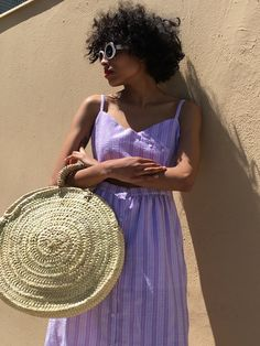 Summer purples | STYLEBOP Purple Fashion, Boho Fashion, Dedicated Follower Of Fashion, Skirts With Boots, Lisa, Spring Summer Trends, Summer Looks, Wicker Baskets, Editorial Fashion