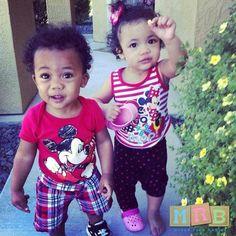 Twins-Filipino, El Salvadorian, African American