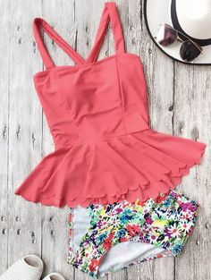 GET $50 NOW | Join Zaful: Get YOUR $50 NOW!http://m.zaful.com/scalloped-high-waisted-abstract-print-peplum-tankini-p_277442.html?seid=3063986zf277442