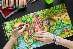 #colouring #johannabasford #magicaljungle #adultcoloringbook #colouringbook #green