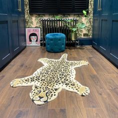 Leopard Rug - The Courthouse Interiors Leopard Rug, Natural Fiber Rugs, Room Accessories, Large Rugs, Animal Print Rug, Interiors, Handmade, Bedroom Accessories, Leopard Carpet