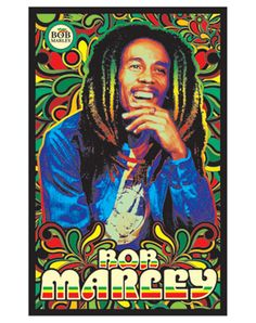 Bob Marley Rasta Blacklight Poster - You can find all your smoking accessories right here on Santa Monica #Blacklight #Teagardins #SmokeShop