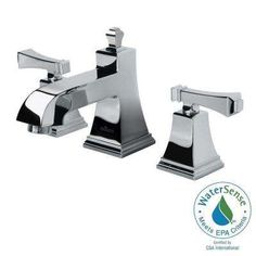 Exhibit 8 in. Widespread 2-Handle High-Arc Bathroom Faucet in Chrome