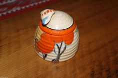 Clarice Cliff Beehive Orange Autumn Pattern Honey POT Small Size ART Deco | eBay