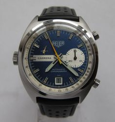 HEUER-Carrera-30-ref-1553B-Vintage-Buren-cal-15-Automatic-Chronograph