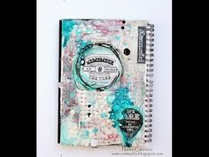 Mixed Media Art Journalling Page for Marion Smith Designs