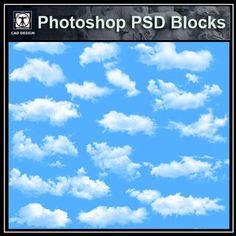 Free Photoshop PSD Cloud Blocks 2