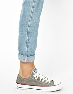 Image 3 ofConverse All Star Grey Wool Ox Trainers