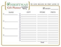 Christmas Gift Organizer...
