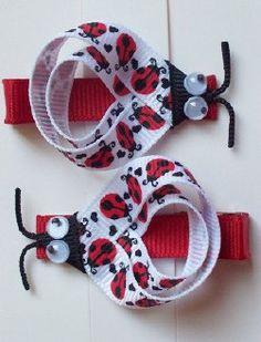 Ladybug clippies