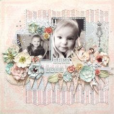 Layout: Tiny Rose *Prima* scrapbook-layouts-just-waiting-to-happen