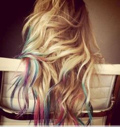 tie-dyed hair