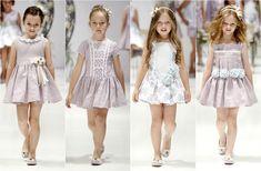 vestidos combinados en dos colores - Buscar con Google Little Girl Dresses, Girls Dresses, Flower Girl Dresses, Kids Gown, Beautiful Little Girls, Young Fashion, Diva Fashion, Girl Model, Dress Patterns