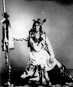 """Chief Little Crow, 1862 - Chief Little Crow was the eldest son of Cetanwakuwa (Charging Hawk). It was on account of his father's name, mistranslated Crow, that he was called by the whites """"Little Crow."""" His real name was Taoyateduta, His Red People.  As far back as Minnesota history goes, a band of the Sioux called Kaposia (Light Weight, because they were said to travel light) inhabited the Mille Lacs region."""
