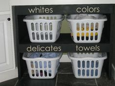 brown paper packages: {laundry shelves}