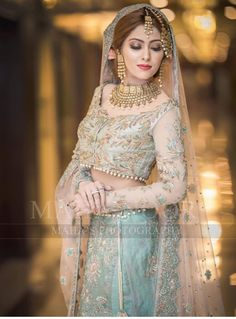Gorgeous Pakistani bride in an elegant lehenga Walima Dress, Pakistani Formal Dresses, Pakistani Wedding Outfits, Pakistani Lehenga, Bridal Lehenga, Anarkali, Saree, Girl Fashion, Fashion Dresses
