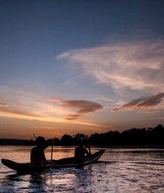Atardecer en el Rio Orinoco, Venezuela