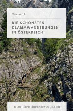 Bärenschützklamm, Johannesbachklamm und mehr! Hier findest du meine Tipps für wunderschöne und abwechslungsreiche Klammwanderungen in ganz Österreich. Hallstatt, Travel Tips, To Go, Outdoor, Salzburg, Adventure, World, Tricks, Hiking Trails