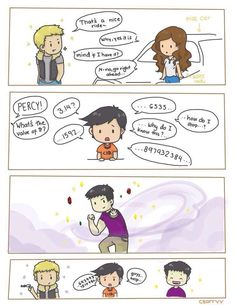 Jason Grace, Percy Jackson & Frank Zhang (Artwork) if they had their girlfriends powers