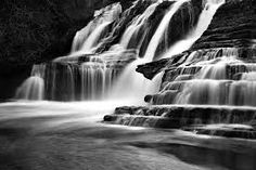 black and white waterfall pictures - Google Search