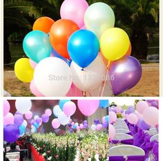 100 Pcs 10 inch Pearl Plain Latex Balloon for Home Birthday Parties Wedding Engagements Decoration