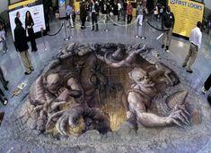 3D illusions Julian Beever