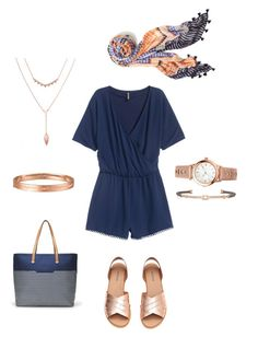 """""""Rose Gold Summer"""" by gill-carruthers on Polyvore featuring Stella & Dot and H&M"""