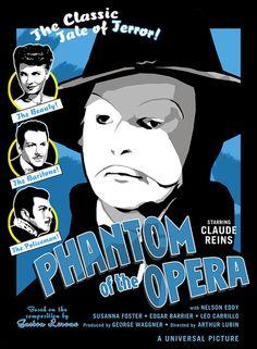 Claude Raines The Phantom of the Opera by Rob Kelly
