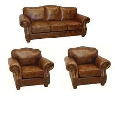 Leather Sleeper Sofa  Overstock Brandon Distressed Whiskey Italian Leather Sofa and Two Chairs The