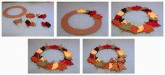3D Paper Mum Wreath and Fall Wreath