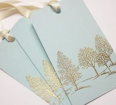 Tree Wedding Wish tree tags Gift Tags favor tags - Gold Embossed Luxury . made gifts handmade gifts gifts Christmas Gift Wrapping, Handmade Christmas, Blue Christmas, Luxury Christmas Cards, Christmas Colors, Christmas Decor, Christmas Tree, Handmade Gift Tags, Handmade Ideas