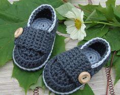 Zapatos de bebé crochet escarpines mocasines por Ohprettypretty